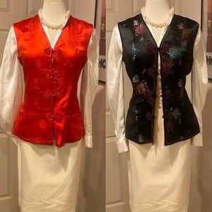 Gorgeous reversible Vintage Asian top vest